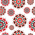 Seamless retro kaleidoscope flower background pattern Stock Photo