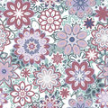 Seamless retro kaleidoscope flower background pattern