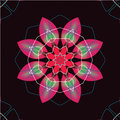 Seamless retro kaleidoscope flowers background Stock Photos