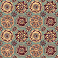 Seamless retro pattern of doodle flowers