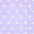 Seamless Retro Pattern with Scratch and Big Stars Royalty Free Stock Photo