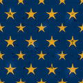 Seamless Retro Pattern with Scratch and Yellow Stars Royalty Free Stock Photo