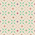 Seamless retro pattern with stars and geometrical elements background Stock Photos