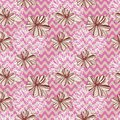 Seamless retro pattern with waves flowers and laces Royalty Free Stock Photography