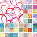 Seamless retro patterns Royalty Free Stock Photos