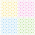 Seamless retro polka dots Royalty Free Stock Photo