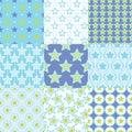 Seamless retro stars geometric pattern Royalty Free Stock Photo