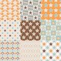 Seamless retro stars pattern Royalty Free Stock Photo