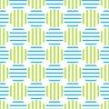 Seamless retro striped circles