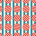 Seamless retro stripes and circles Stock Photos