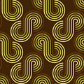 Seamless retro wallpaper pattern Royalty Free Stock Photo