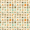 Seamless retro web pattern cartoon vector illustration Stock Image