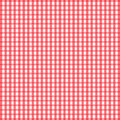 Seamless retro white red square tablecloth vector Stock Photos