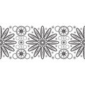 Seamless ribbon with abstract flower lace pattern Stock Photo