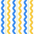 Seamless ric rac and stitches pattern Stock Photo