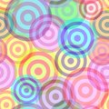 Seamless ring pattern Royalty Free Stock Image