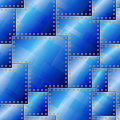 Seamless Riveted Blue Plate Pattern Stock Photo