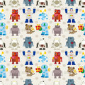 Seamless Robot pattern Royalty Free Stock Photos