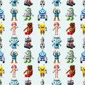 Seamless Robot pattern Stock Photography