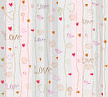 Seamless romantic background with hearts Stock Photography