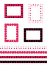 Seamless romantic border patterns Royalty Free Stock Images