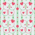 Seamless romantic pattern with hearts Royalty Free Stock Photo