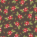 Seamless rose pattern vintage inspired floral with roses Stock Photography
