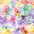 Seamless rose watercolor pattern vector eps elegant Royalty Free Stock Photos
