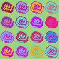 Seamless roses background pattern this is a scalable vector making it ideal for textiles gift wrapping and decorative Stock Image