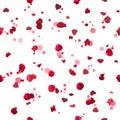 Seamless roses hearts Royalty Free Stock Photo