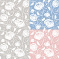Seamless roses pattern, backdrop, template Stock Image