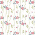 Seamless roses pattern with lines Stock Photos