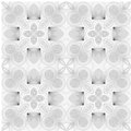 Seamless round hand drawn pattern Royalty Free Stock Photography