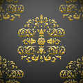 Seamless royal floral pattern Royalty Free Stock Photos