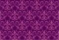 Seamless Royal lily wallpaper Royalty Free Stock Photos