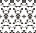 Seamless royal texture with fleur-de-lis Stock Photography