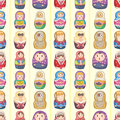 Seamless Russian doll pattern Stock Photo