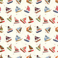 Seamless sailboat pattern Royalty Free Stock Image