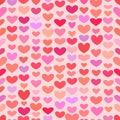 Seamless Saint Valentine heart pattern Royalty Free Stock Photo