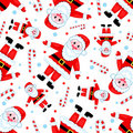 Seamless santas pattern. Stock Image