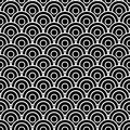 Seamless scaled circles Stock Photography