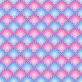 Seamless scales pattern red and blue Stock Images