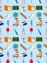 Seamless school element pattern Stock Photos