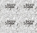 Seamless school pattern cartoon vector illustration Stock Images