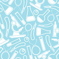 Seamless scientific pattern blue background Stock Photography