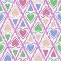Seamless scribble bright kids ornament pattern design
