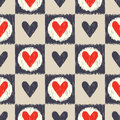 Seamless scribble geometric heart pattern