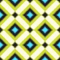 Seamless scribble rhombus pattern Royalty Free Stock Photo