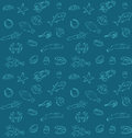 Seamless sea food pattern vector illustration of Royalty Free Stock Images