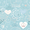 Seamless sea print summer illustration pattern illustration Royalty Free Stock Photo